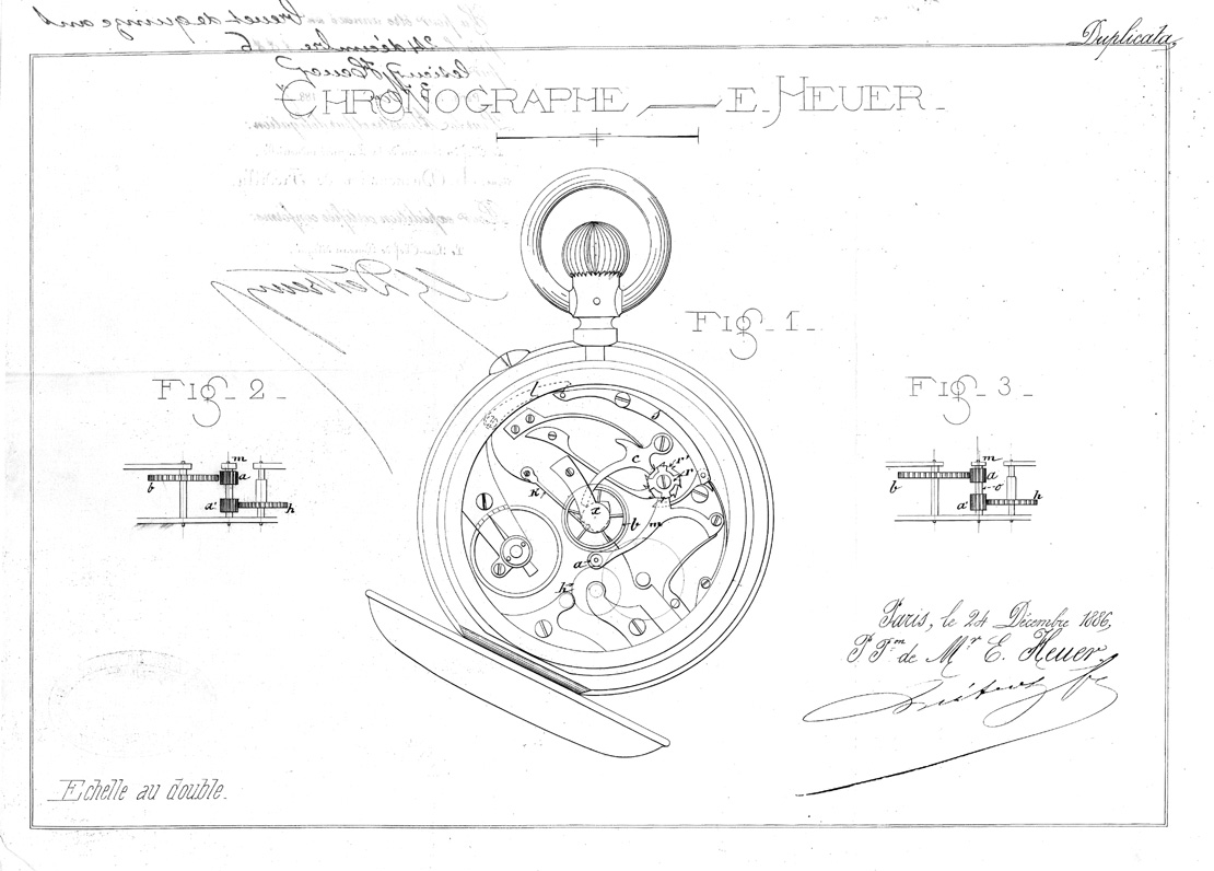 Diagram of the oscillating pinion for the French patent Nr 85908