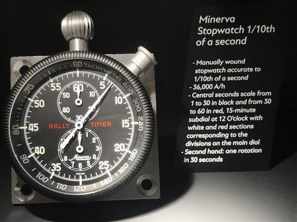 ↑かつてミネルバが製造したラリータイマー