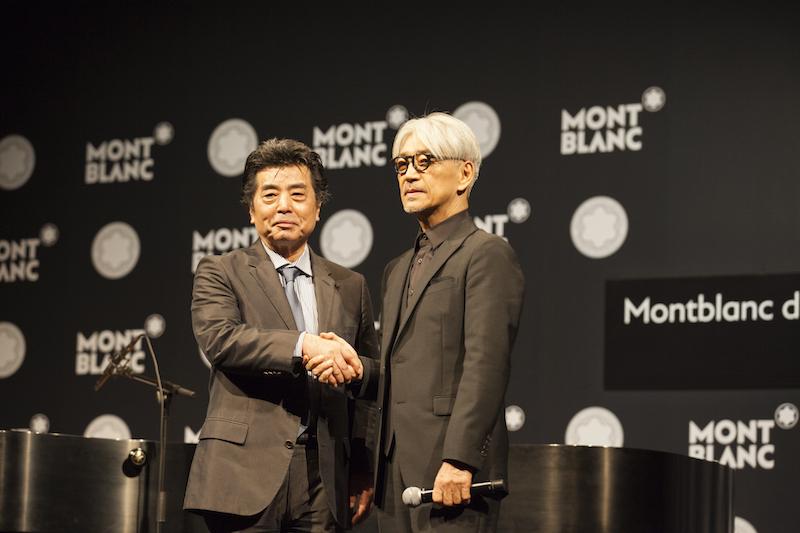 ↑ゲストオブオーナーとして登場した村上龍氏と坂本龍一氏