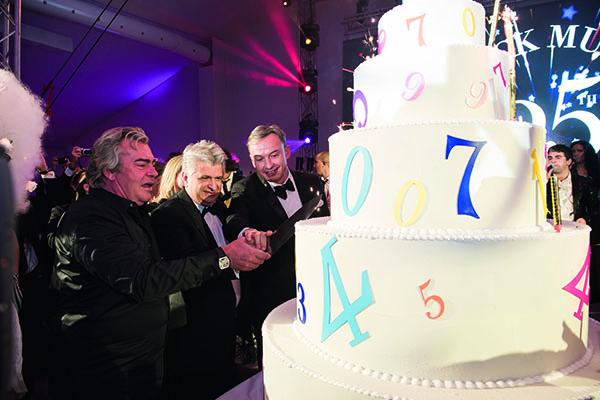 ↑ブランド誕生25周年を記念したガラパーティにはフランク ミュラー氏本人も参加