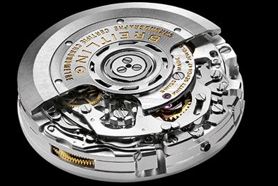 ↑ブライトリングは現代のクロノグラフ機構の礎を築いたブランド。写真は同社製クロノグラフキャリバー01
