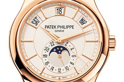 ↑パテック フィリップの年次カレンダーは閏年表示を持たないトリプルカレンダー表示が特徴