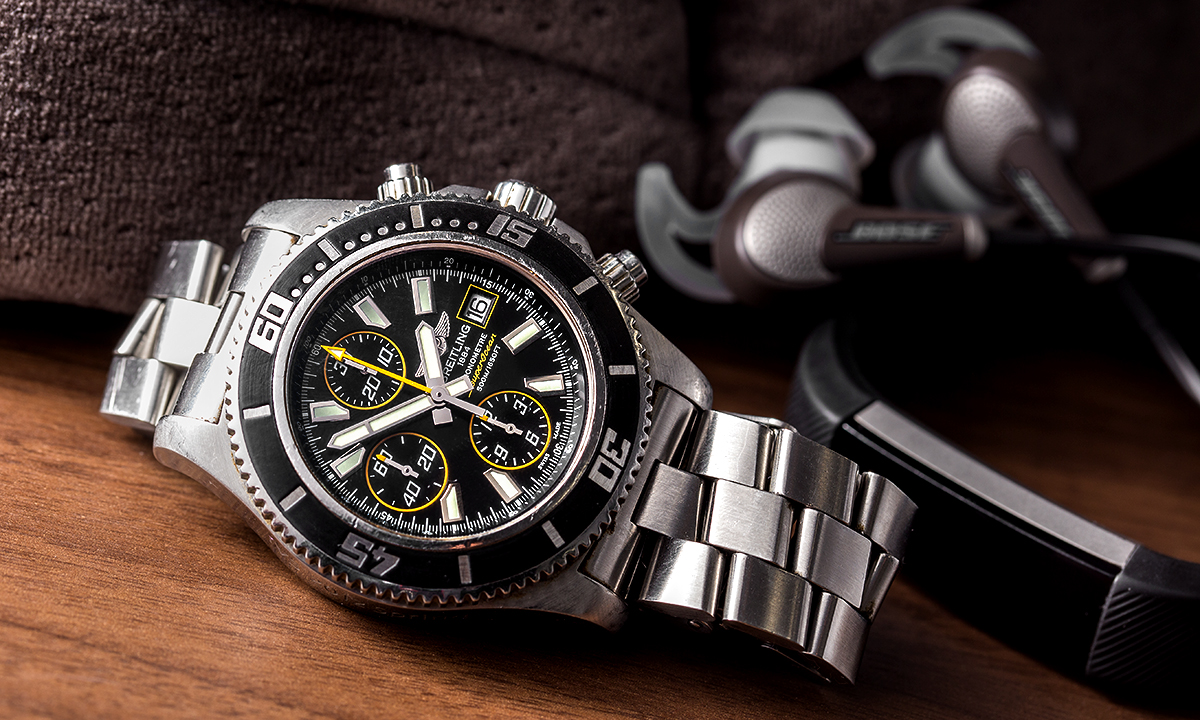 吉田さんが「IVS 2012 Spring Launch Pad」で優勝した際、副賞で獲得したブライトリングの腕時計