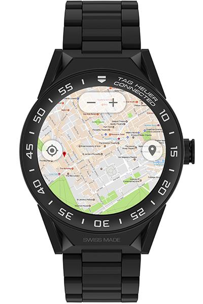 地図アプリではかなり正確に現在地を捕捉。GPSの使用はバッテリーのもちが気になるところだが、約4時間のサイクリングでも問題なく使えた(時計としての使用だけだとまる1日はもつ)