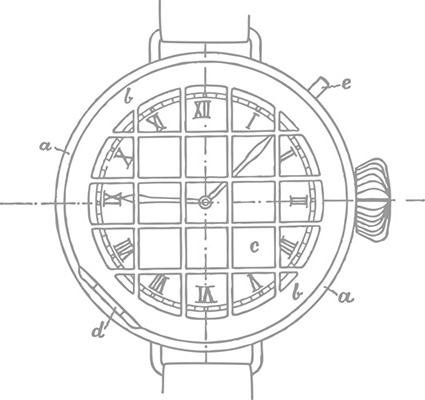 ↑最初に製作した腕時計の図面