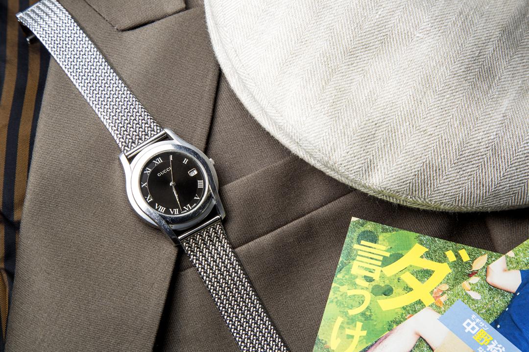 中野さんが父から譲り受けたGUCCIの腕時計