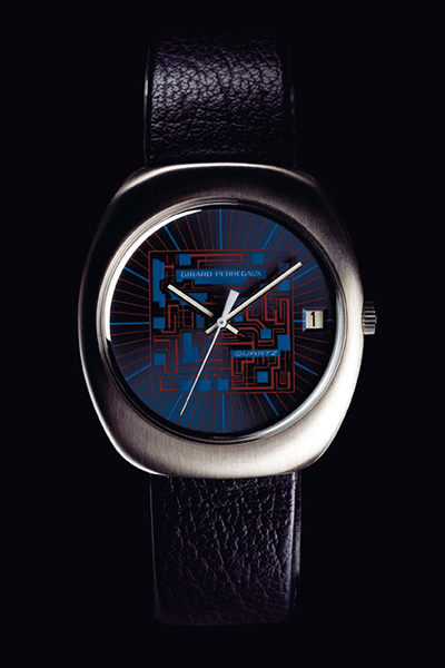 ↑1970年代に製造されたジラール・ペルゴ製のクオーツ時計