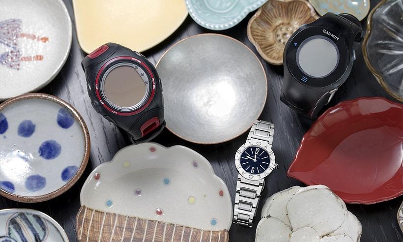 ↑ご主人から誕生日プレゼントにもらったブルガリの時計は、シンプルなデザインがお気に入り