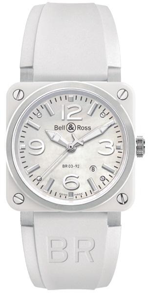 ↑ベル&ロス「BR 03-92 ホワイト セラミック」56万1600円/Ref.BR03-92WC-R