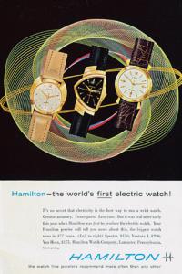 腕時計ブランドの教科書 ハミルトン】1957年、世界初の電池式時計「ベンチュラ」で世界を席巻(HAMILTON) | WATCHNAVI Salon