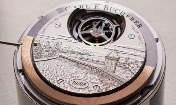 シックな装いに映える革新トゥールビヨン カール F. ブヘラ「ヘリテージ トゥールビヨン ダブル ペリフェラル限定モデル」