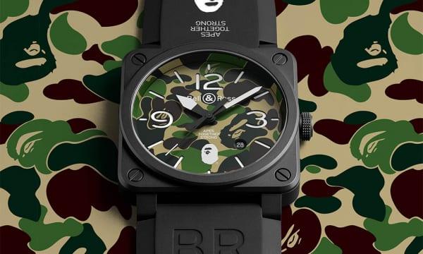 ブランド設立25周年のA BATHING APEがベル&ロスと作った腕時計がめちゃくちゃ格好良い!