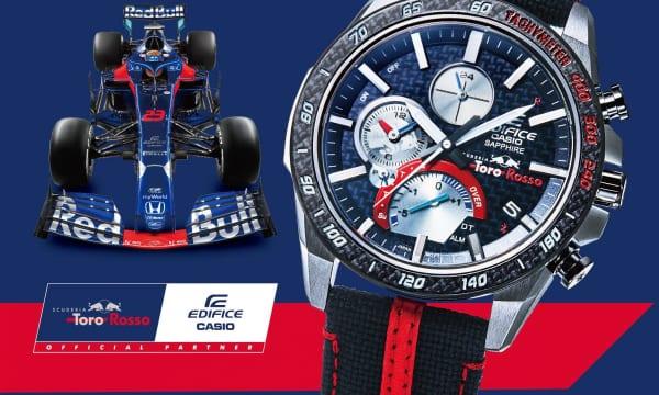 エディフィス × F1! レーシングカーをモチーフにした薄型クロノグラフが登場
