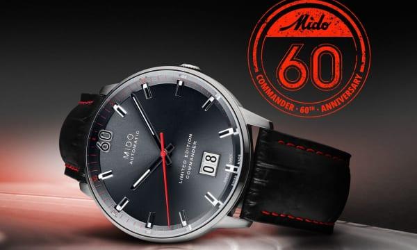 レトロで美しい! シリーズ60周年記念を祝うミドーの限定モデル「コマンダー ビッグデイト リミテッドエディション」
