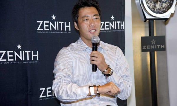 現役を引退した元ジャイアンツ・上原浩治さんがゼニス ブティック大阪のイベントに登場