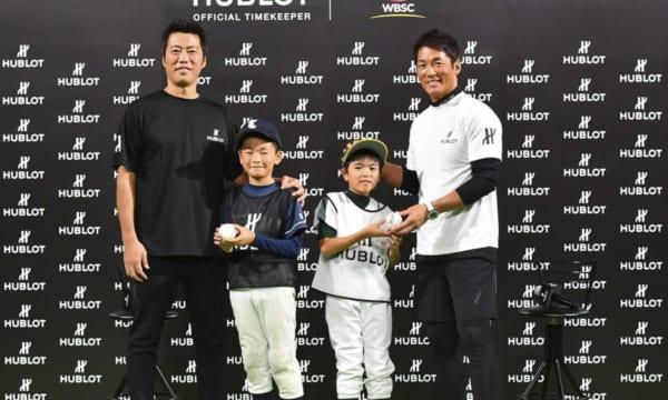 元プロ野球選手の長嶋一茂さんと上原浩治さんがウブロのチャリティーイベントに参加
